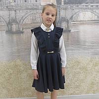 """Школьный сарафан для девочки """"Крылышко"""" синий., фото 1"""