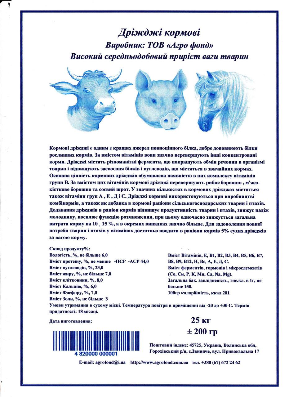 Кормові дріжджі є одним з кращих джерел повноцінного білка