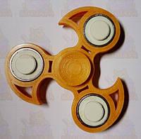 Спиннер Светящийся Оранжевый New форма с шипами с подшипниками Украина  Hand spinner, finger spinner