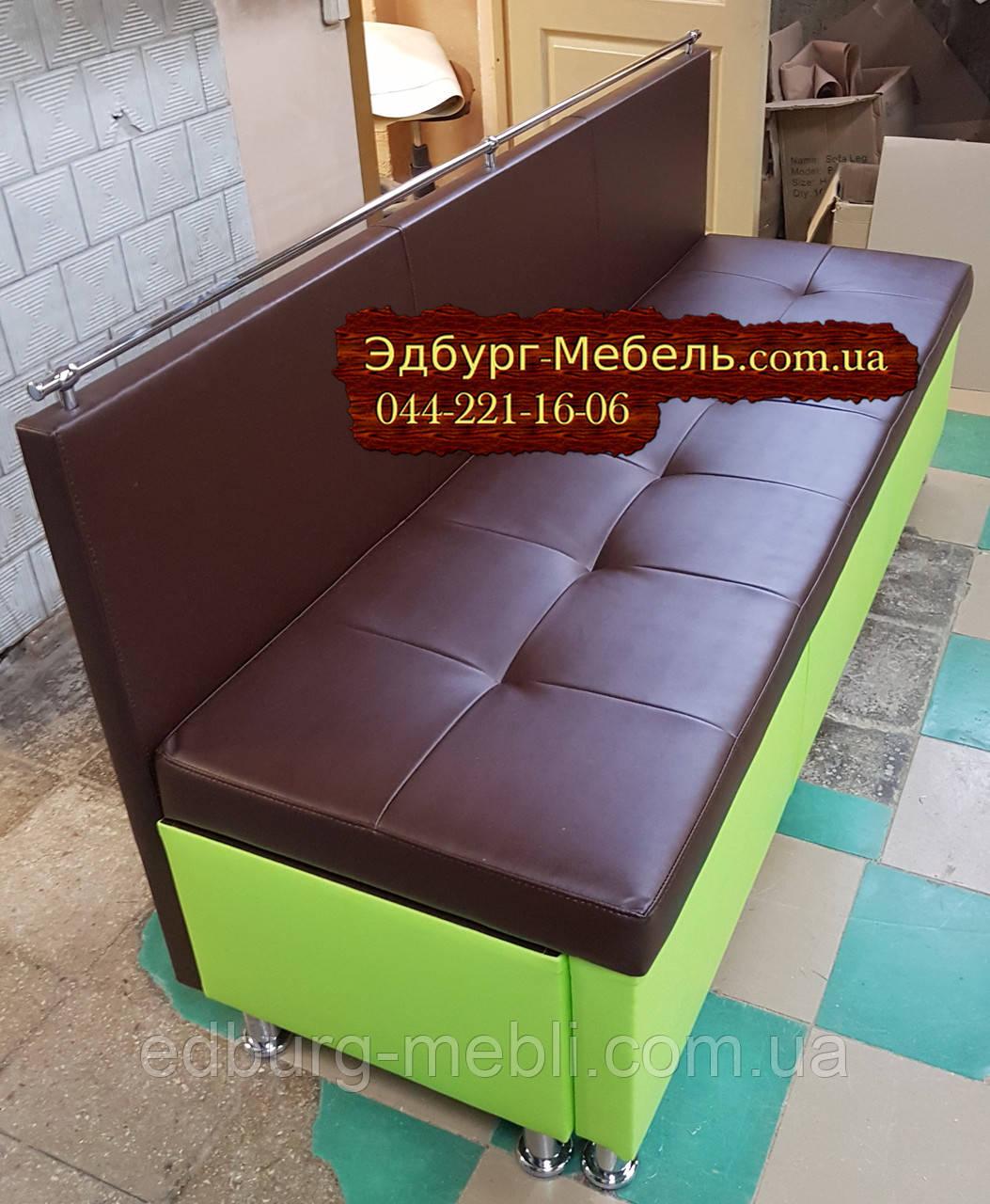 Диван для узкой кухни, коридора с ящиком + спальным местом 1800х600х850мм - фото 3