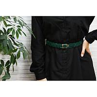 Женский кожаный бохо-ремень Изумруд, фото 1