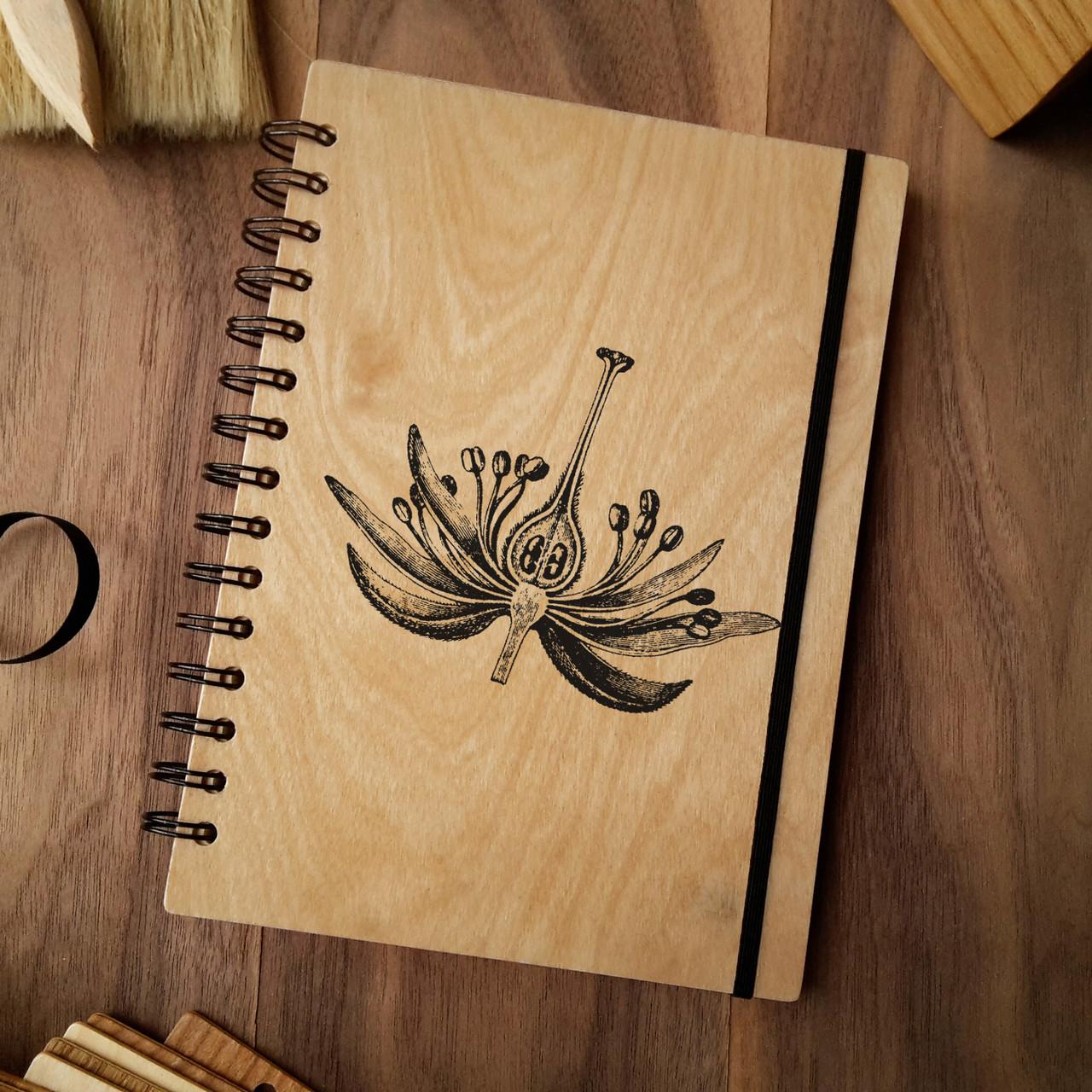 "Деревянный блокнот ""Пестик и тычинки"" А5 (бумага 148х210 мм), фото 1"