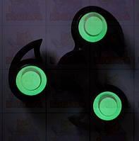 Спиннер Светящийся Черный New форма с шипами с подшипниками Украина  Hand spinner,  finger spinner