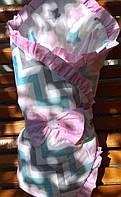 Весенний конверт-одеяло на выписку для девочки Зефирка