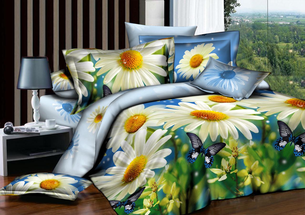 Евро комплект постельного белья Летний Пейзаж
