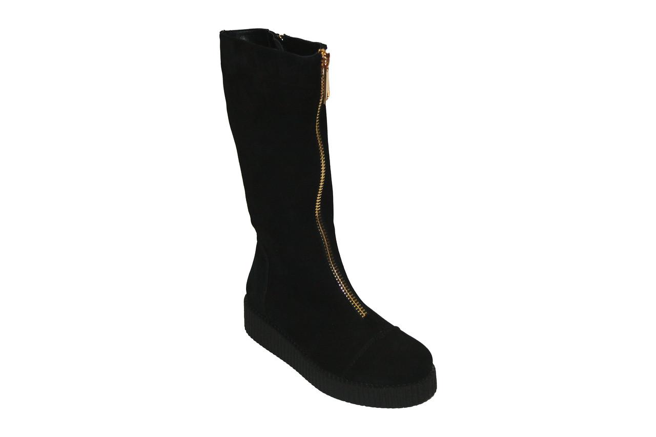 Замшевые сапоги с декоративной молнией / women's shoes boots 10144-02