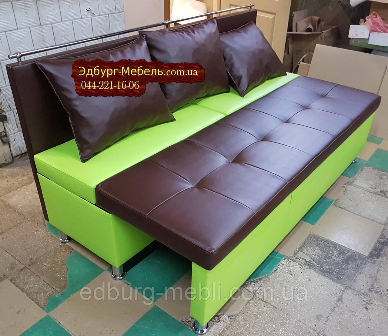 Диван для узкой кухни, коридора с ящиком + спальным местом 1800х600х850мм - фото 2