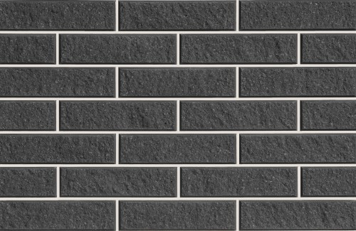 Плитка фасадная LAND BRICK колотая черная 250х22х65 мм