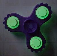 Спиннер Светящийся Фиолетовый с подшипниками Hand spinner, finger spinner Игрушка Антистресс