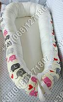Детский кокон позиционер для новорожденных (бежевые расцветки), фото 3