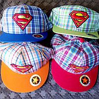 Детская кепка реперка бейсболка бетмен  супермен р.ры 52-54.(Сзади регулятор размера)