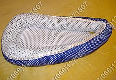 Детский кокон позиционер для новорожденных (синие расцветки), фото 3