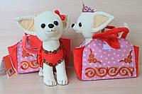 Собачка Чи чи лав Крошка принцесса с короной в сумке Мягкая игрушка
