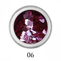 Блестки-сердечки для декора  Adore №6 Розовый