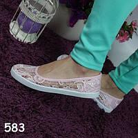 Балетки беж мягкие удобные, женская обувь, удобные легкие,  дышащие , фото 1