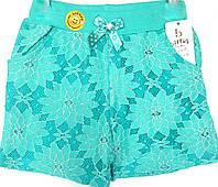 Кружевные трикотажные шорты на девочку 5-7 лет
