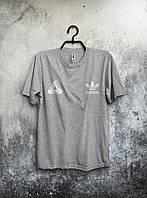 Качественная футболка Adidas Palace Палас Адидас серая (большой принт)