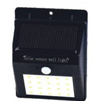 Свет-к LEMANSO фасадный LED 3W 300LM IP65 с д/дв. + солнечн. бат./ M997