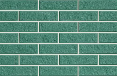 Плитка фасадная LAND BRICK колотая зеленая 250х22х65 мм