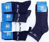 Носки мужские спортивные х/б с сеткой Adidas, Originals, 41-46 размер, средние, ассорти, 658