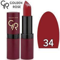 Губная помада матовая Golden Rose Velvet Matte Lipstick Тон 34 Red wine