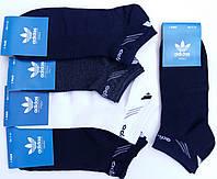 Носки мужские спортивные х/б с сеткой Adidas, Originals, 41-46 размер, короткие, ассорти, 657