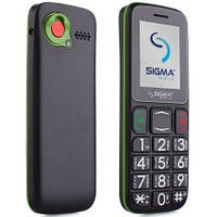 "Бабушкофон Sigma mobile Comfort 50 mini3 Black-Green черно-зеленый (2SIM) 1,77"" 0,3 Мп оригинал Гарантия!"