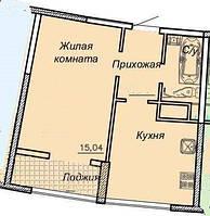 1 комнатная квартира улица Каманина, Аркадия