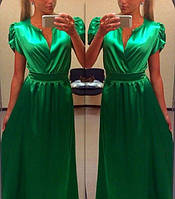 """Длинное изумительное платье в пол с короткими рукавами """"фонарик"""""""