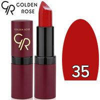 Губная помада матовая Golden Rose Velvet Matte Lipstick Тон 35 Deep red