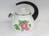 Чайник со свистком 2,5л 2711/2 Роза Кавказа Epos