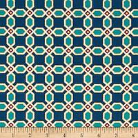 """Ткань для пэчворка и рукоделия американский хлопок """"Геометрия бирюза ЗОЛОТО"""" - 22*55 см"""