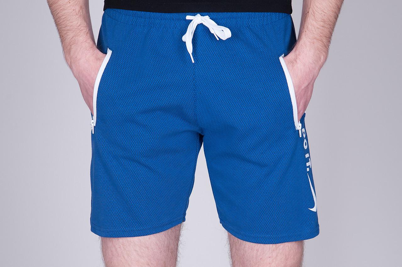 Чоловічі трикотажні шорти NIKE синього кольору