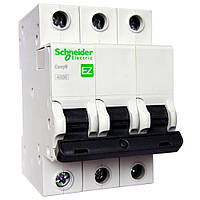 Автоматический выключатель Schneider Electric Easy9 3P 63A хар-ка C 4,5кА EZ9F34363