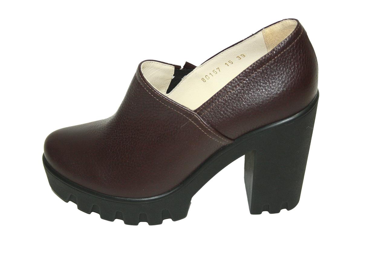 Туфли кожаные Oscar Fur 80157-18 Коричневый