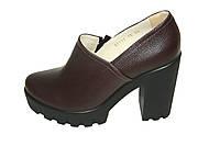 Туфли кожаные Oscar Fur 80157-18 Коричневый, фото 1