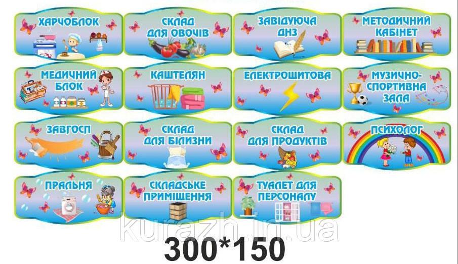 Набор табличек на двери в детский сад
