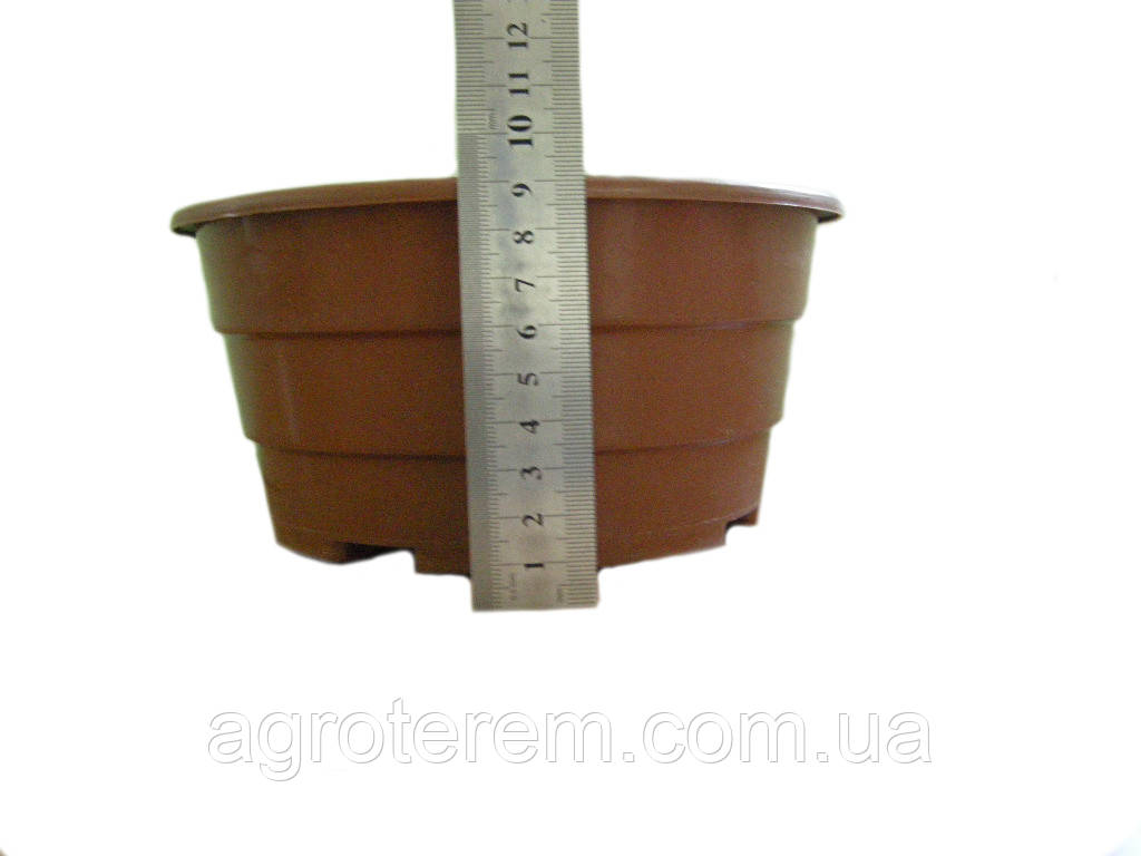 Миска круглая для растений 18 (без крючка), фото 1