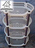 Этажерка овальная Efe plastics (бежевая)