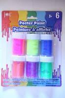 D-4236 Пальчиковые краски, 6цветов, 120мл c блестками
