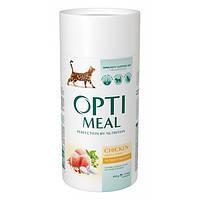 Сухой корм для кошек OPTIMEAL - курица, 0,65 кг