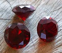 Кристалл стеклянный красный (диаметр 4 см)