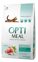 Сухой корм OPTIMEAL (ОПТИМИЛ) для котят - (Chicken) курица 4КГ