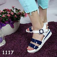 Босоножки бело-синие на платформе, балетки, женская летняя обувь