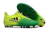 Футбольные бутсы adidas X 16 FG Core Green/Solar Yellow/Core Black, фото 1