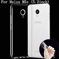 Силиконовый прозрачный чехол для Meizu M5s