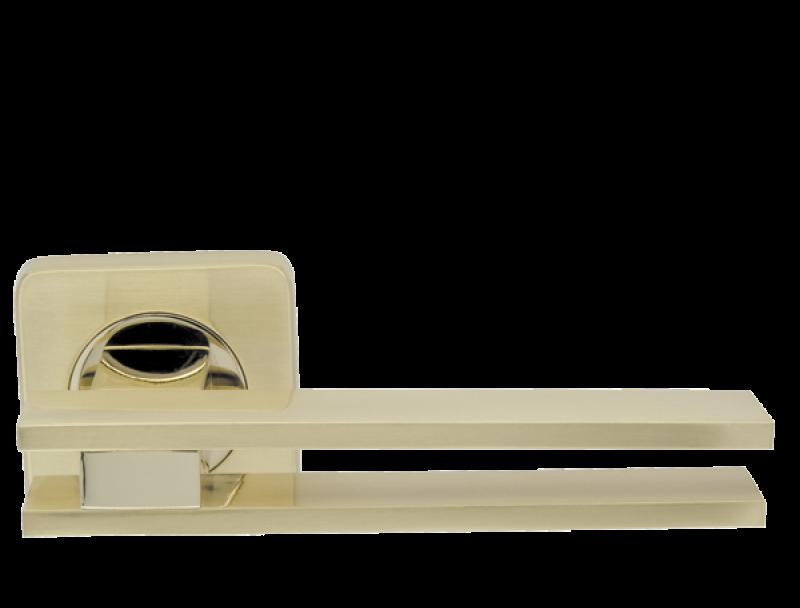 Ручка дверная на розетке Armadillo Bristol матовое золото (Китай)