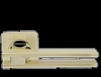 Ручка дверная на розетке Armadillo Bristol матовое золото (Китай), фото 1