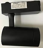 Світильник трековий 10Вт LED теплий білий 3200К чорний корпус антиблий, фото 4