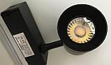 Світильник трековий 10Вт LED теплий білий 3200К чорний корпус антиблий, фото 7